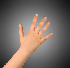 Hand isolated on background