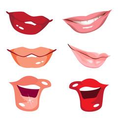 Set women lips