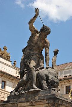 Statue at Prague castle, Czech Republic