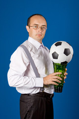 Business with soccer ball (football)