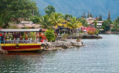 Foto op Aluminium Indonesië Lake Toba, Indonesia
