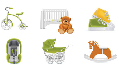 Vector baby icons. Part 2