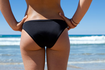 A beautiful womans body on the beach