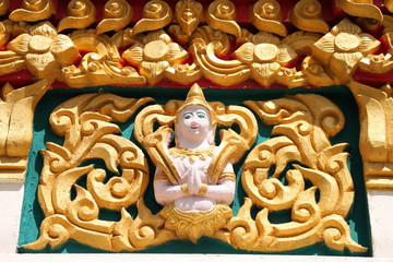 art on archway of Wat Nong Tum Boa Yai, Borabue, Mahasarakam