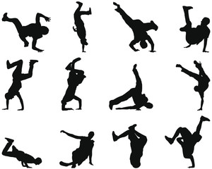 break-dancer silhouettes