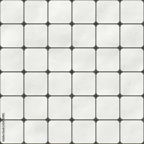Seamless Texture Made Of White Square Tiles With Round Corners