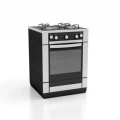 white gas cooker over the
