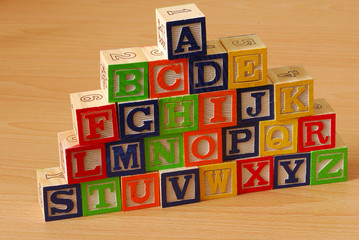 Alphabet blocks A-Z
