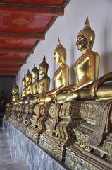 Row Gold Buddha Thailand Squat