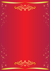vector red card with decor