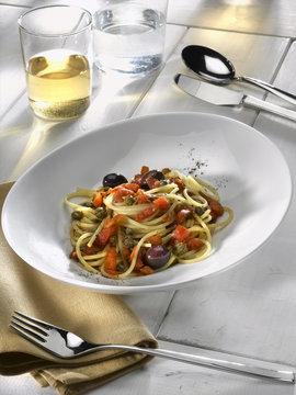 spaghetti alla puttanesca light