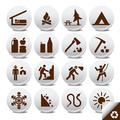Tourist icons vector set