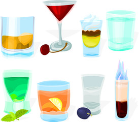 Set of a various cocktails B