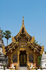 Buddhist Church in Wat JeDiLiam ,Chiangmai province,Thailand