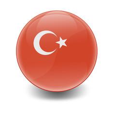 Esfera brillante con bandera Turquia