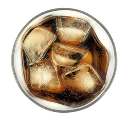Cola drink,top view