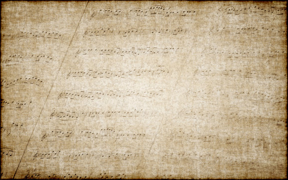 Old grunge music notes background