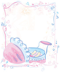 Cute card for baby girl.