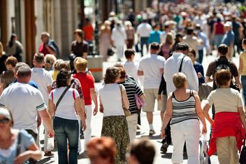 walking pedestrians