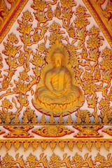art on gable of temple, Wat Wang Pla Do, Borabue, Mahasarakam