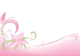 floral pink background