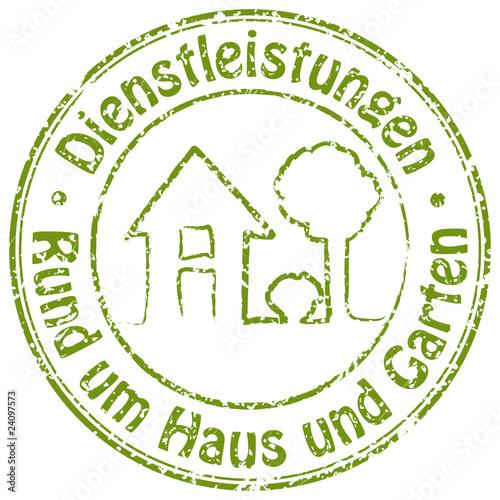Dienstleistungen Rund Um Haus Und Garten Stempel Stock Photo