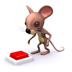 3d Mouse presses the red button