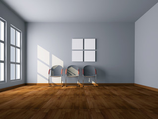 camera stanza vuota 3d
