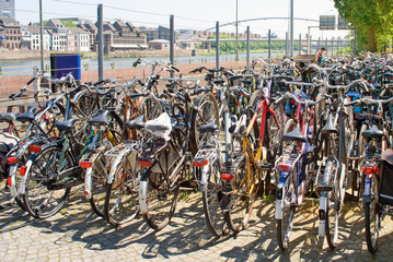 Bike parking in the Netherlands