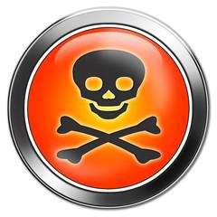 totenkopf button, danger