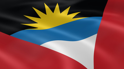 Antiguan and Barbudan flag in the wind