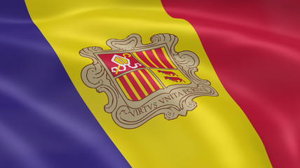 Andorran flag in the wind