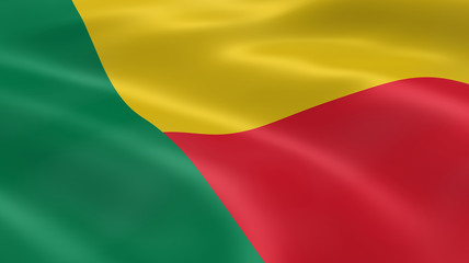 Beninese flag in the wind