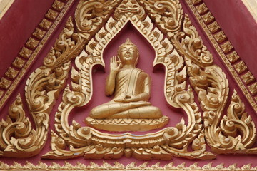 art on archway, Wat Nong Toob, Borabue, Mahasarakama