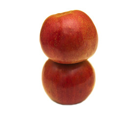 two apple isolated