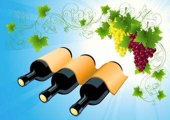 Wine bottle background