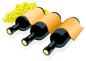 Three wine bottles