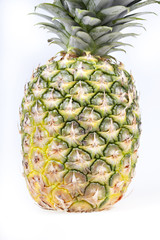 ripe pineapple isolated
