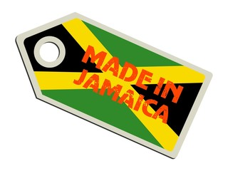 vector label Made in Jamaica
