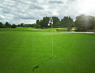 Golf idyllic scenery