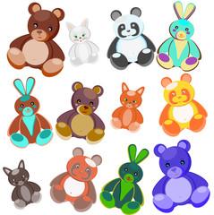 Colour soft toys