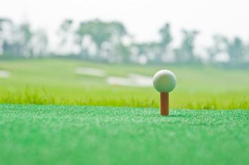 Golf in grass