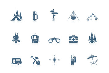 Camping icons   piccolo series