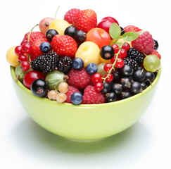 The treasure of summer. Berries mix