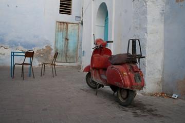 Aluminium Prints Scooter Vespa, Kairouan,Tunisa
