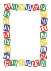 ABC Alphabet Block Frame