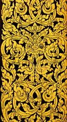 Thai golden painting art