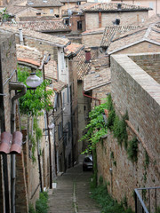 One of the street of Tuscany, Urbino, Italy