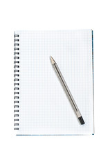Note book with black pen