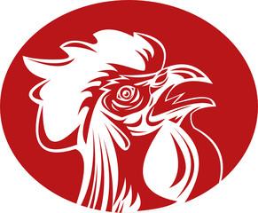 Rooster cockerel crowing